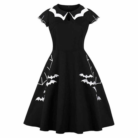 Rosetic Gothic Summer Hollow-Out Color Halloween Dresses