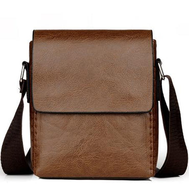 Crossbody Bags PU Leather Shoulder Bag Male Casual Simple