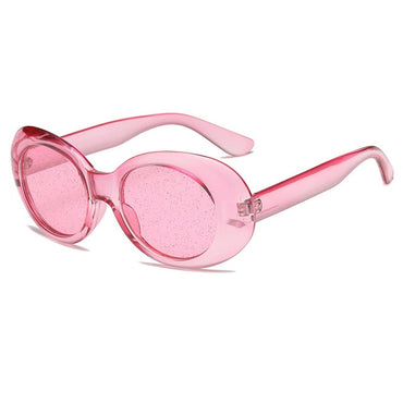 Oval Sunglasses  Colorful Candy Clear Sun Glasses
