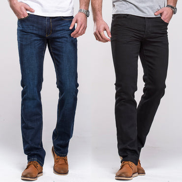 Jeans Classic Straight Fit Stretch Denim Jeans Casual