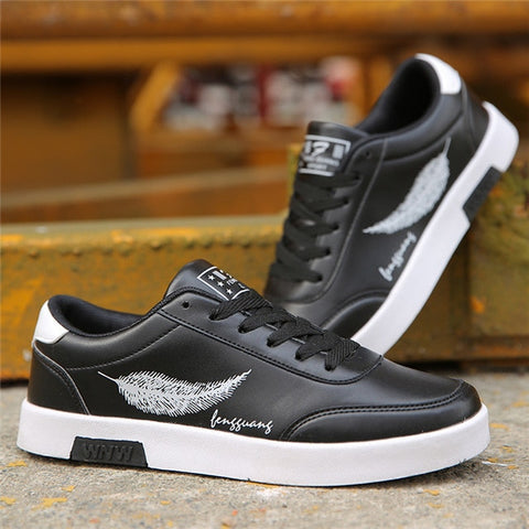 Casual Shoes Breathable Male Tenis Masculino feather Print Shoes
