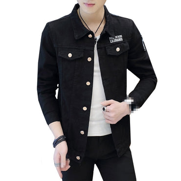 new style slim and handsome denim jacket coat