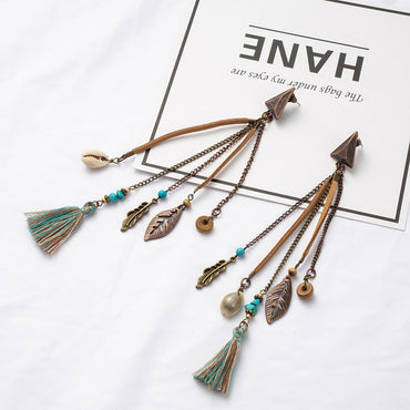 Boho Bohemian Ethnic Handmade Long Tassel Dangle Drop Earrings