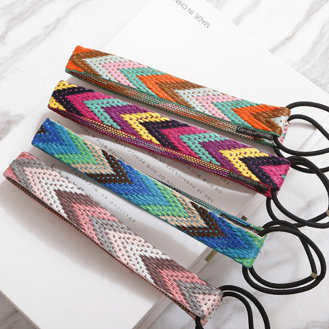 Ethnic Boho Embroidery Headbands Vintage Hair Accessories