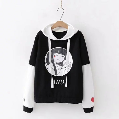 Hoodie Lolita Anime Letter Graphic Sweatshirts Pullover