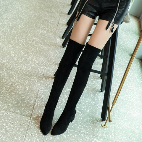 Over The Knee Fashion All Match Pointed Toe Winter Shoes Boots