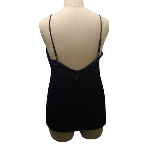 Loose Solid Fitness Camis Silk Lady Camis Casual Black Tops Tank Tops