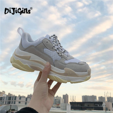 Fashion Casual Suede Leather Platform Shoes Sneakers