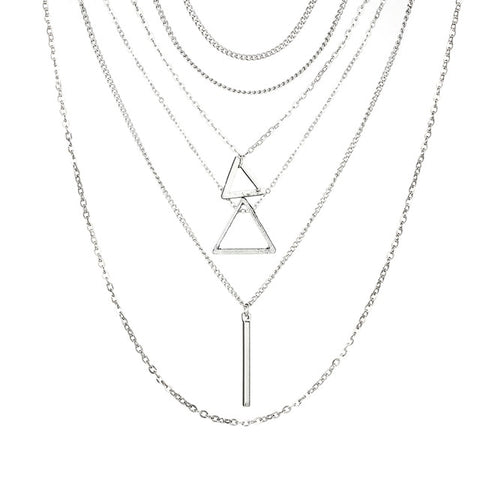 Bohemian Triangle Bar Stick Pendant Chokers Necklaces