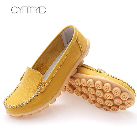 Genuine leather Superstar Round toe shallow Loafers Flat shoes