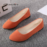 Fashion Flock Slip-On Round Toe Casual Flat Shoes