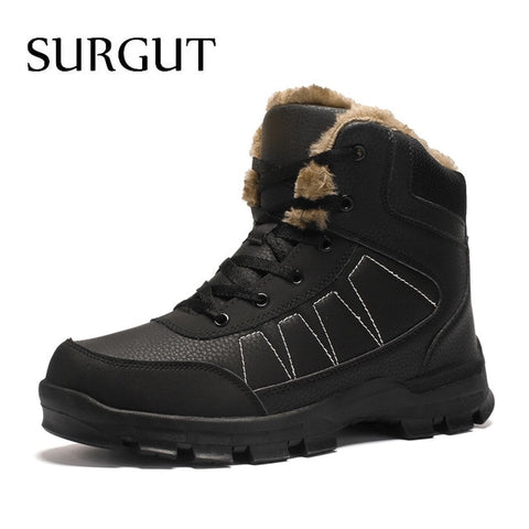 Warm Fur Comfortable Working Shoes High Top Snow Boots