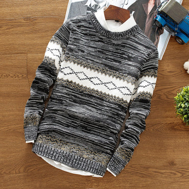 round neck pullover warm casual knit bottoming shirt