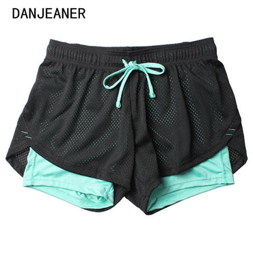 Double Layer Shorts Skinny Fitness Shorts