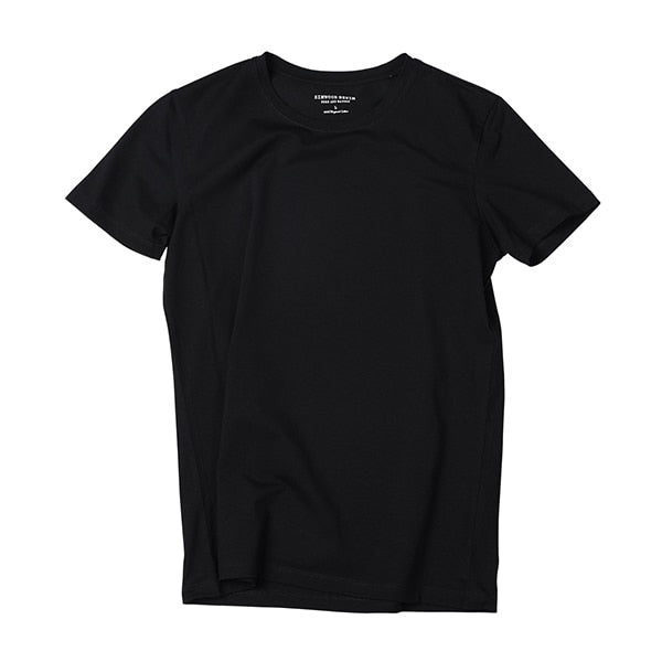 New Solid Basic Skinny O-neck Cotton Slim Fit tshirt Male High Quality