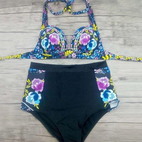 High Waist Women's Swimming Suit Separate Two Pieces Swimsuits