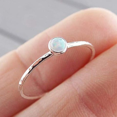 Simple Design Fire Opal Rings Jewelry Vintage