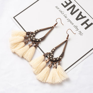 Variety of Bohemian Boho Ethnic Vintage Tassel Drop Dangle Earrings