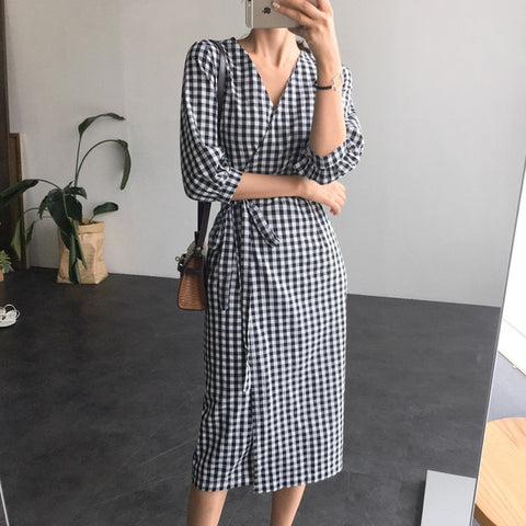 Design One piece Open Slit Bandage Slim Chic Casual Midi Dress