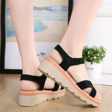 Leather Shoes Fashion Wild Student Sandals