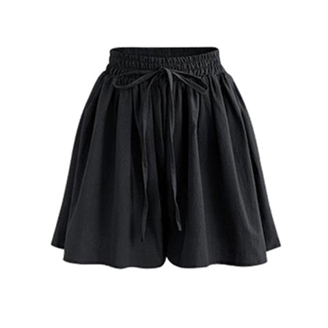 Shorts High Waist Loose Chiffon Shorts Plus Size