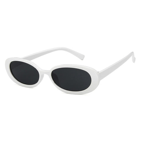 Cow Black Spots Printing Small Shapes Oval Sun Glasses