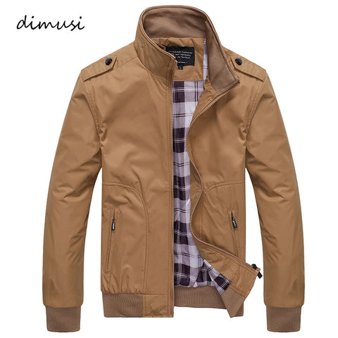 Casual Coats Solid Color Sportswear Stand Collar Slim Bomber Jackets
