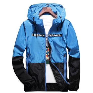 Jackets Hip Hop Jacket Windbreaker Hooded Casual Zipper