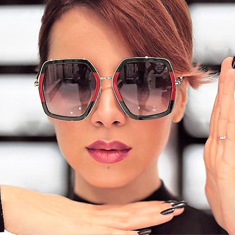 Square Sunglasses Luxury Brand Designer Vintage Sunglass