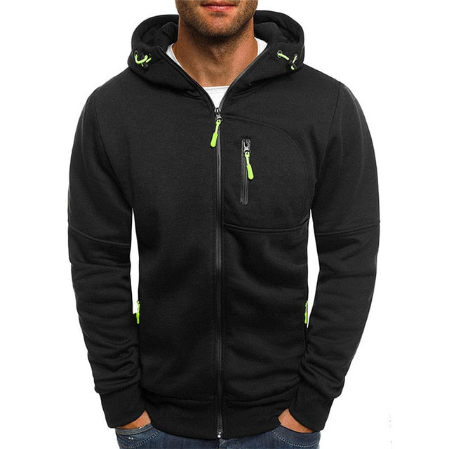 Hooded Coats Casual Zipper Sweatshirts Male Tracksuit Fashion