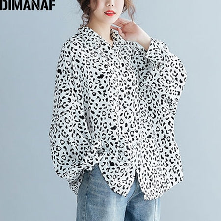 Lady Tops Tunic Print Big Size Loose Casual Batwing Female Clothes