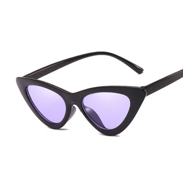 Sexy Cat Eye Brand Designer Mirror Black Triangle Sun Glasses