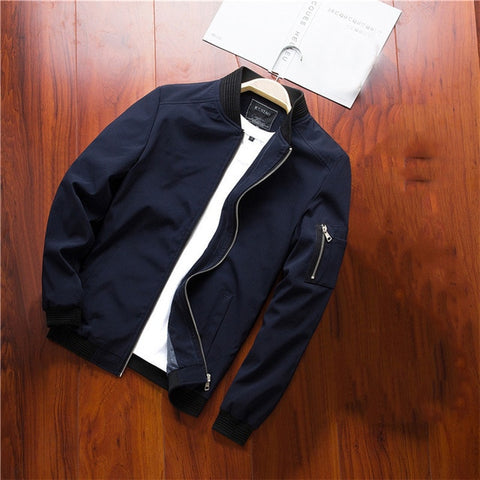 Casual Coats Bomber Slim Fashion Outwear Brand Clothing Jackets