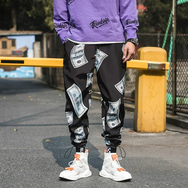 Fashion Printed Harem Hip Hop Casual Streetwear Joggers Pants