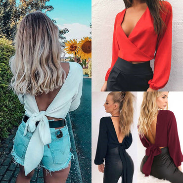 Casual Off Shoulder Crop Top Boho Beach Midriff Blouse