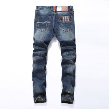 Hot Sale Fashion Dsel Brand Straight Fit Ripped Designer Cotton Jeans