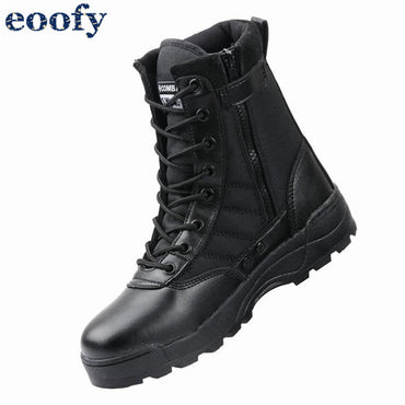 Leather Combat Boots Infantry Tactical Training Ankle Shoes