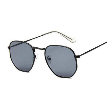 Small Polygonal Metal Brand Designer Vintage Sun Glasses