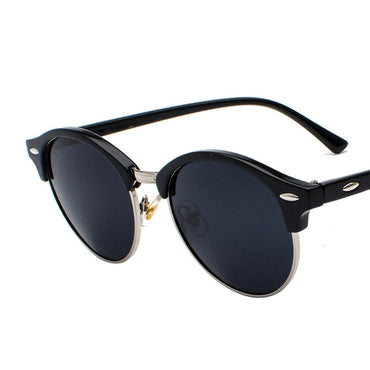 Vintage Polarized Retro Rivet Round Brand Designer Sun Glasses
