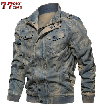 Military Tactical Jeans Solid Casual Air Force Pilot Coat