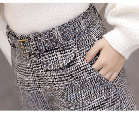 fashion a word wide leg vintage high waist casual large size