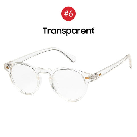 Fashions Oval Small Clear Classic Trends Transparent Shades Sunglasses