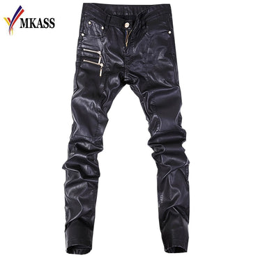 Biker Skinny Gothic Punk Fashion Faux Leather Pants