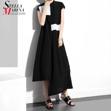 Summer Clothing Women Long Black Dress Casual Dresses