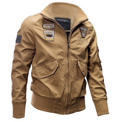 Military Cotton Army Pilot Air Force Cargo Coat Military Flight Outwear Jackets