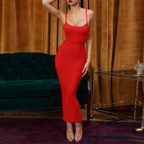 New Arrivals Party Night Bandage Sexy Ginger Maxi Long Bandage Dress