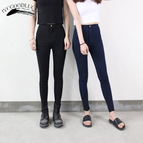 Stretch Black Jeans Pants Skinny Jeans With High Waist
