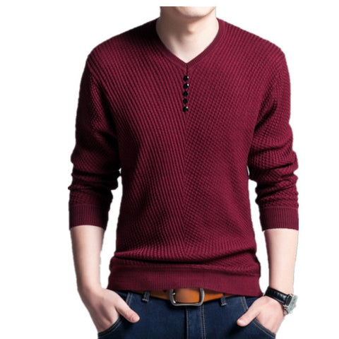 New Brand Male Standard Pullover Fashion Sweater Top
