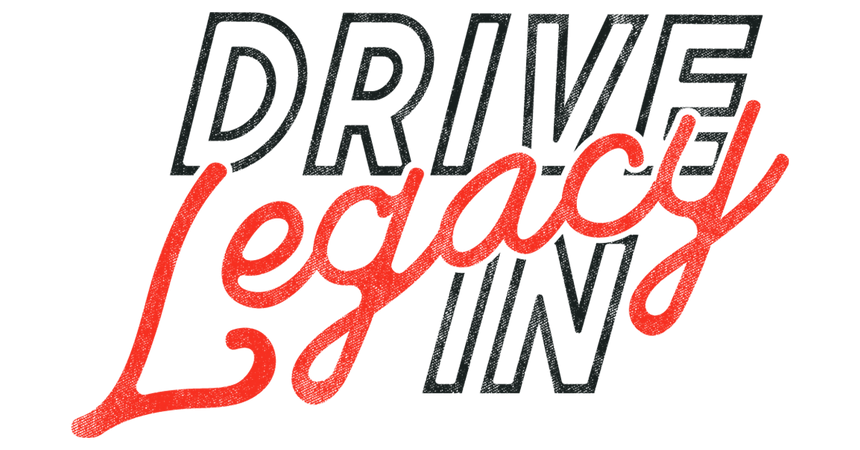 Legacy Drive-In Cinema black and white logo - Movies in Victoria BC