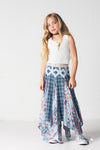 Jak & Pepper Girl's Indian Summer Can You Dig It Tank in Water Lily w/ Coronado Skirt - Esa's Closet - Girl's Online Clothing Boutique